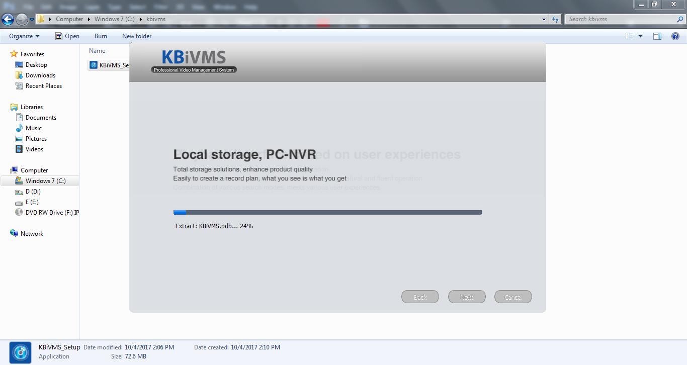 các bước cài phần mềm kbivms cho máy tính